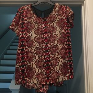Tops - Snakeskin Printed Blouse